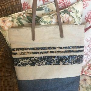 Gap bag sequin stripe
